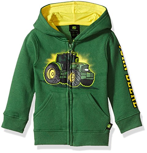 John Deere baby boys Fleece Zip Hoody Hooded Sweatshirt, Green, 4T US