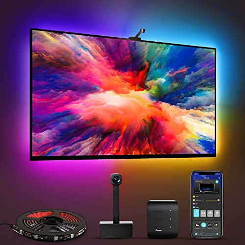Govee Immersion WiFi TV LED Backlights with Camera, Smart RGBIC Ambient TV Light for 55-65 inch TVs PC, Works with Alexa & Google Assistant, App Control, Lights and Music Sync, Adapter