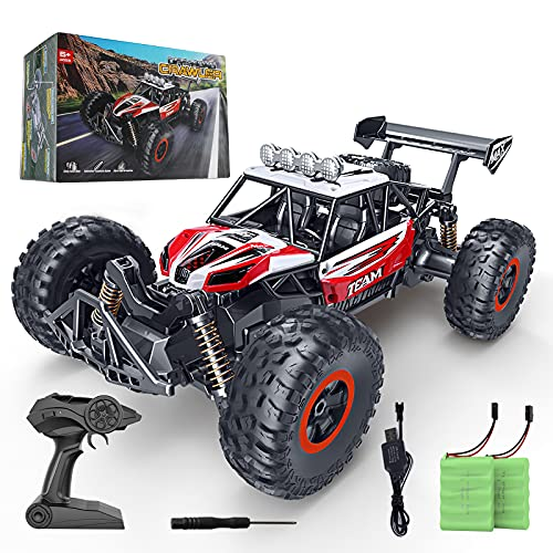 RC Car, SPESXFUN 2021 Upgraded 1:14 Scale High Speed Remote Control Car, 2.4Ghz Off Road RC Trucks with Two Rechargeable Batteries, Electric Toy Car for All Adults & Kids