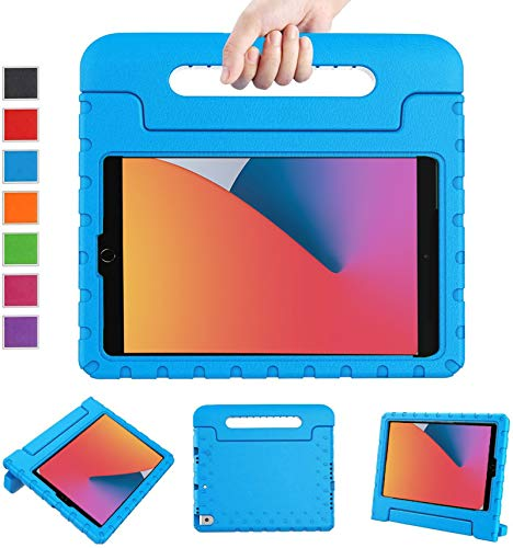 LTROP New iPad 8th Generation Case, iPad 10.2 Case, iPad 7th Generation Case for Kids, iPad 10.2 2020 Kids Case Shockproof Light Weight Handle Stand Case for iPad 8th/ 7th Gen 10.2' and Air 3 - Blue