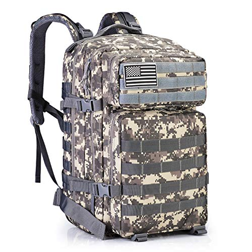 G4Free 40L Military Tactical Backpack 3 Day Assault Survival Molle Pack Bug Out Bag Fishing Backpack Rucksack