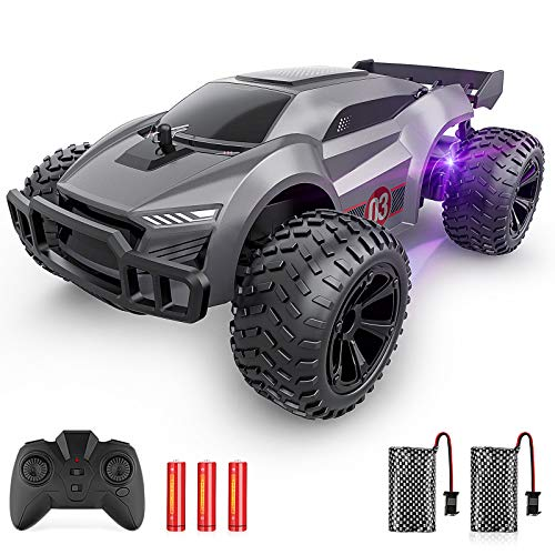EpochAir Remote Control Car - 2.4GHz High Speed Rc Cars, Offroad Hobby Rc Racing Car with Colorful Led Lights and Rechargeable Battery,Electric Toy Car Gift for 3 4 5 6 7 8 Year Old Boys Girls Kids
