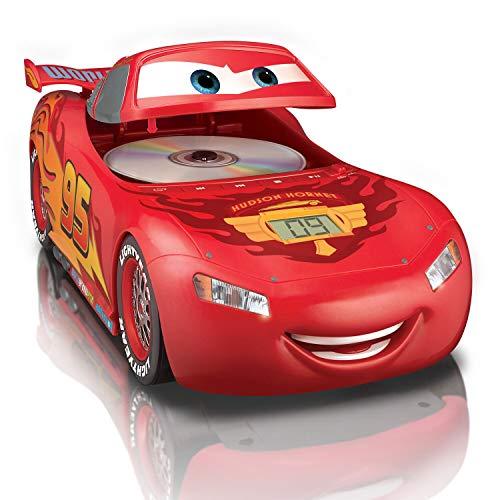 eKids Disney Cars 3 CD Boombox For Kids Lightning McQueen Stereo Sound CD Vroom