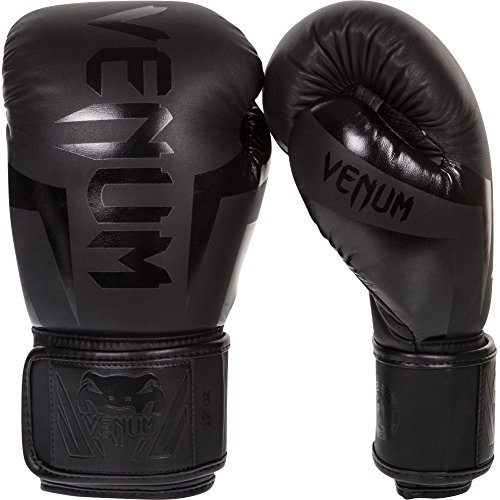Venum Elite Boxing Gloves, Black, 16 oz