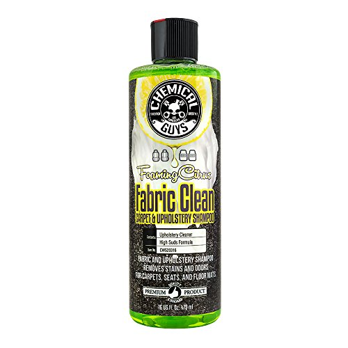 Chemical Guys CWS_103 Foaming Citrus Fabric Clean Carpet & Upholstery Shampoo (16 Oz), 16. Fluid_Ounces