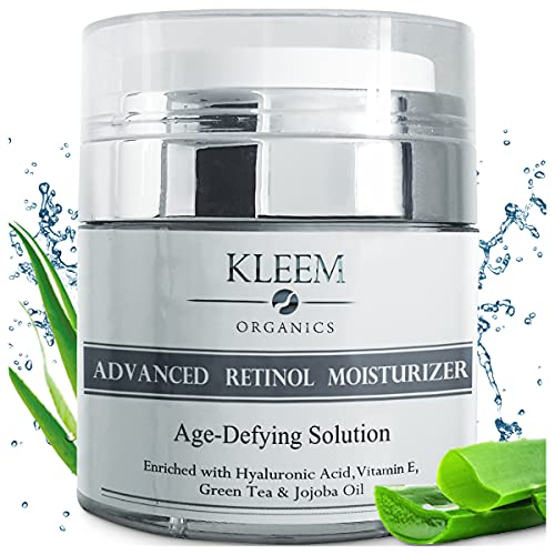 Anti Aging Retinol Moisturizer Cream for Face and Neck with 2.5% Retinol and Hyaluronic Acid. Top Night Anti Wrinkle Facial Cream for Men & Women to Reduce Wrinkles & Dark Spots - Cruelty Free