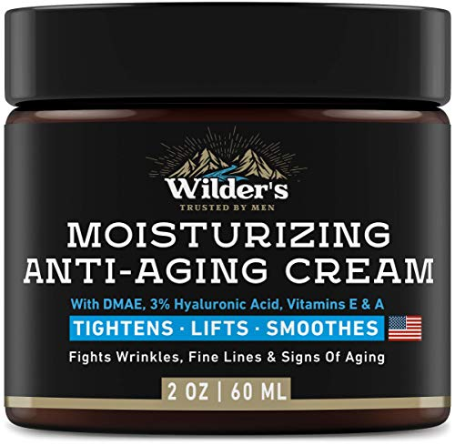 Men's Face Cream Moisturizer - Anti Aging Facial Skin Care - Made in USA - Collagen, Retinol, Hyaluronic Acid - Day & Night - Anti Wrinkle Lotion 2 oz