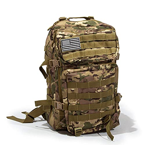 Bug Out Bag Backpack - 50L Tactical Backpack - Great for Survival Essentials (Green Camo)