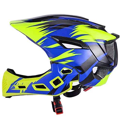 Natuway Kids Full Face HelmetS for Cycling Scooter Skateboard BMX Bike Roller-Skate Protective Gear Blue