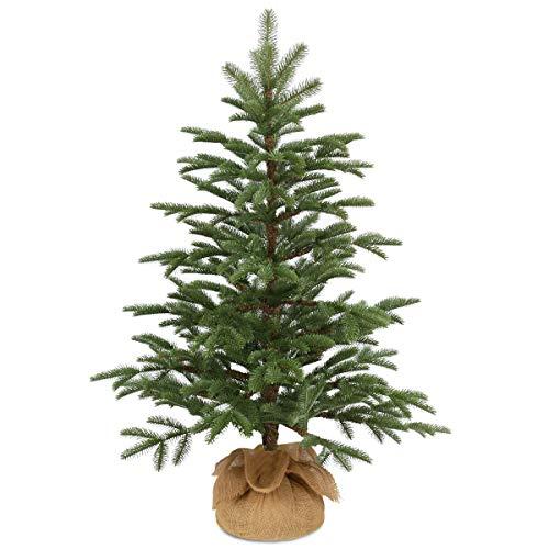 National Tree Company 'Feel Real' Artificial Mini Christmas Tree | Includes Cloth Bag Base | Norwegian Seedling - 3 ft