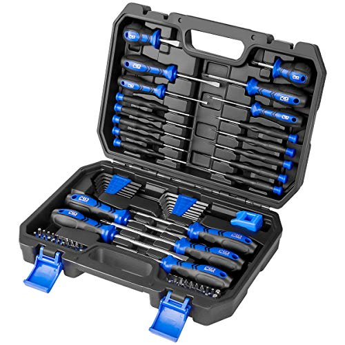 PROSTORMER Magnetic Screwdriver Set, 79-Piece Multi-Purpose Slotted/Phillips Screwdriver Kit with Precision Screwdrivers, Allen Wrench Set and Screwdriver Bits for DIY and Repair Works