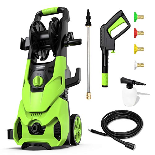 [2021 New] Paxcess Electric Pressure Washer 3500PSI 1.85GPM High Power Washer Machine with 5 Quick-Connect Nozzles, 16.9oz Foam Cannon for Car, Patio and Floor Cleaning