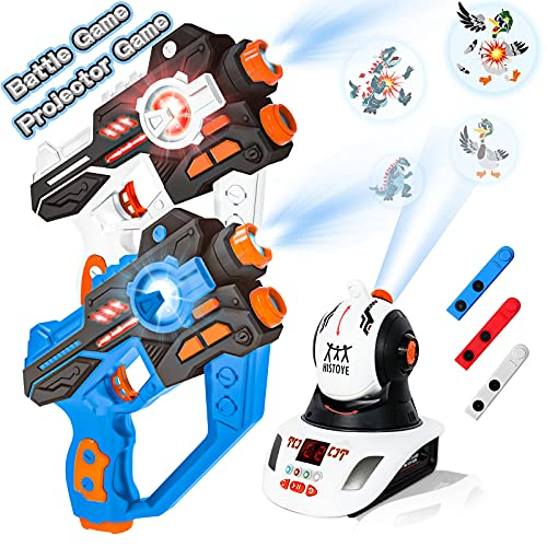 HISTOYE Infrared Lazer Tag Set with Gun and Projector Laser Tag Guns Set of 2 Toy Guns for Kids Teens Adults Lazer Tag Gun Toys for 4 5 6 7 8 9 10 11 12+ Year Old Boys Girls