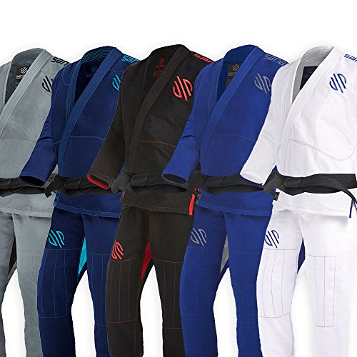 Sanabul Essentials V.2 Ultra Light Pre Shrunk BJJ Jiu Jitsu Gi (A1, White) See Special Sizing Guide