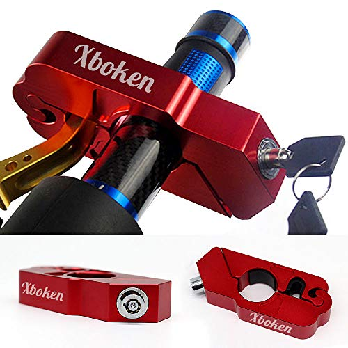 Xboken Motorcycle Handlebar Lock Universal CNC with 2 Keys to Secure Your Motorcycle Bike ATV Moped Scooter in Under 5 Seconds