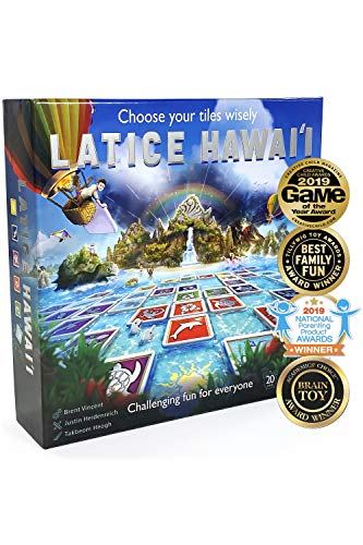 Latice Hawaii Strategy Board Game - The Multi-Award-Winning Smart New Family Board Game. Intelligent Fun for Creative People.
