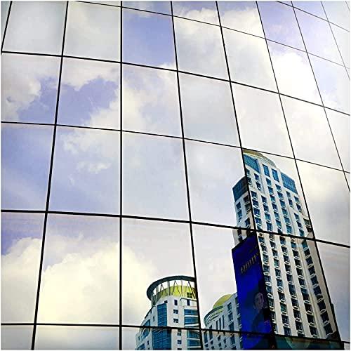 BDF S05 Heat Control Daytime Privacy One Way Mirror Window Film Silver 5 (24in X 24ft)