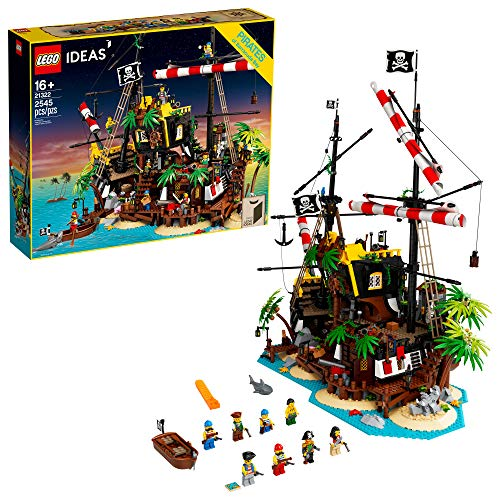 LEGO Ideas Pirates of Barracuda Bay 21322 Building Kit, Cool Pirate Shipwreck Model with Pirate Action Figures for Play and Display, Makes a Great Birthday (2,545 Pieces)