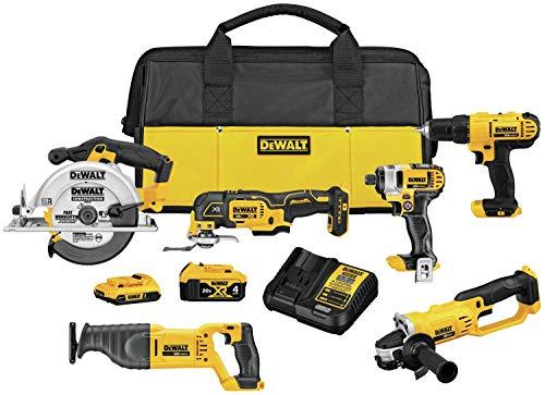DEWALT 20V MAX Cordless Drill Combo Kit , 6-Tool (DCK661D1M1)