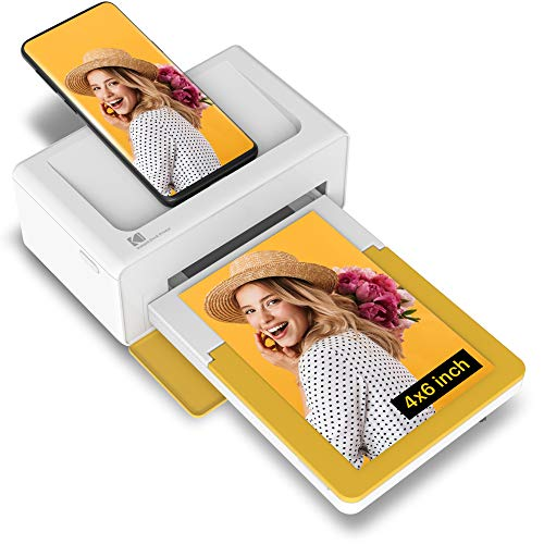"Kodak Dock Plus 4x6"" Portable Instant Photo Printer, Compatible with iOS, Android and Bluetooth Devices Full Color Real Photo, 4Pass & Lamination Process, Premium Quality - Convenient and Practical"