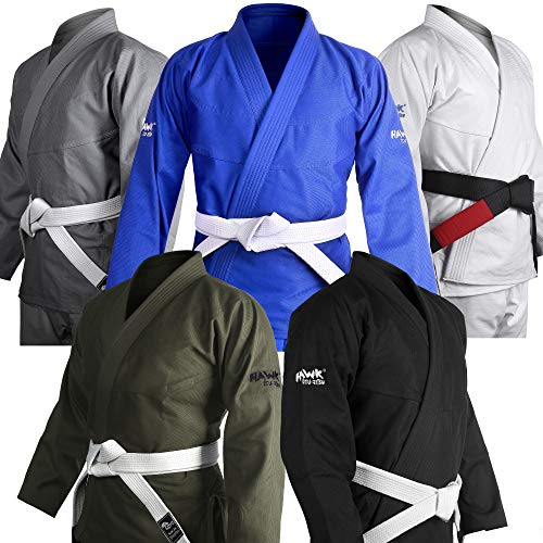 Brazilian Jiu Jitsu Gi BJJ Gi for Men & Women Uniform Kimonos Ultra Light, Preshrunk (Black, A3)