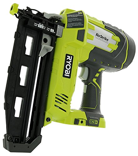 Ryobi P325 One+ 18V Lithium Ion Battery Powered Cordless 16 Gauge Finish Nailer (Battery Not Included, Power Tool Only) (Renewed)