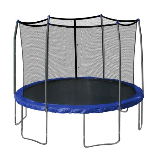 Skywalker Trampolines 12-Feet Round Trampoline and Enclosure with Spring Pad, Blue