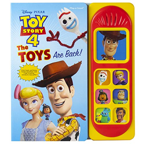 Disney Pixar Toy Story 4 Woody, Buzz Lightyear, Bo Peep, and More! - The Toys are Back! Sound Book - PI Kids (Play-A-Sound)