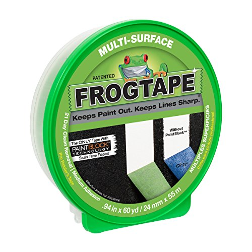 FROGTAPE 1358463 Multi-Surface Painter's Tape with PAINTBLOCK, Medium Adhesion, 0.94' Wide x 60 Yards Long, Green