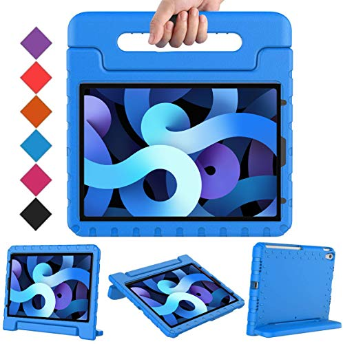 BMOUO Kids Case for iPad Air 4/iPad Air 10.9, iPad Air 4 Case,iPad 10.9 Case, Shockproof Light Weight Convertible Handle Stand Kids Case for iPad Air 4th Generation 10.9 inch 2020-Blue