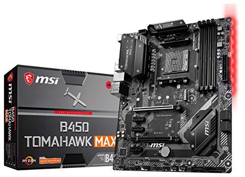 MSI Arsenal Gaming AMD Ryzen 2ND and 3rd Gen AM4 M.2 USB 3 DDR4 DVI HDMI Crossfire ATX Motherboard (B450 TOMAHAWK MAX II)