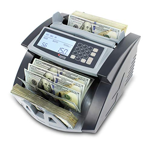 Cassida 5520 UV/MG - USA Money Counter with UV/MG/IR Counterfeit Detection - Bill Counting Machine w/ ValuCount, Add and Batch Modes - Large LCD Display & Fast Counting Speed 1,300 Notes/Minute