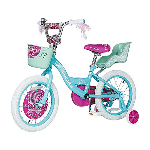 Kids Bike 12 14 16 Inch Boys Girls Bike with Training Wheels 18 20 Inch Kids Bicycle with Hand Brake and Kickstand for Toddlers and Children (16',Blue)