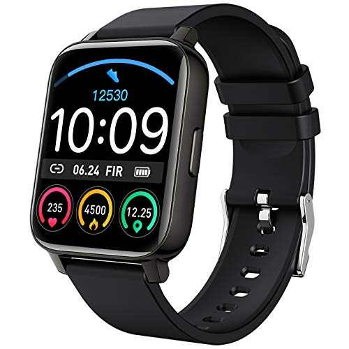 Smart Watch 2021 Ver. Watches for Men Women, Fitness Tracker 1.69' Touch Screen Smartwatch Fitness Watch Heart Rate Monitor, IP67 Waterproof Pedometer Activity Tracker Sleep Monitor for Android iPhone