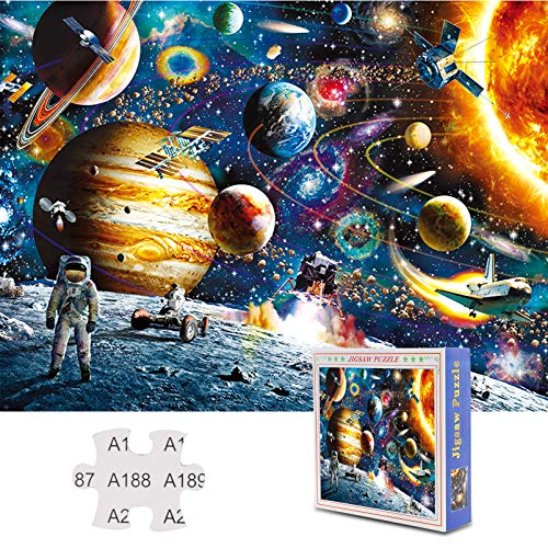 Jigsaw Puzzles Adults 1500 Pieces, Space Puzzles Brain Teaser Puzzles Games Toys for Kids Ages 8-10, Large Piece Puzzles Birthday Gift for Seniors,Hard Mind Cool Funny Difficult Puzzles for Family