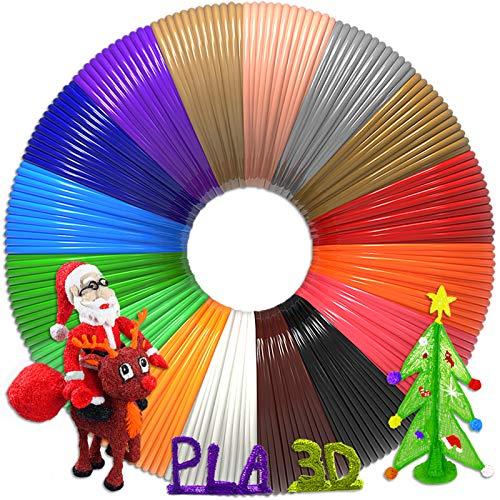 3D Pen Filament 320 Feet, 16 Colors,Each Color 20 Feet, Bonus 250 Stencils eBooks - 3D Printing Pen PLA Filament 1.75mm, High-Precision Diameter and Kids Safe Refill